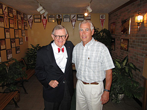 Dr. Dan Ulmer and President E. Gordon Gee in Willard, OH.