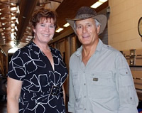 Jack Hanna and Hospital Director Karin Zuckerman