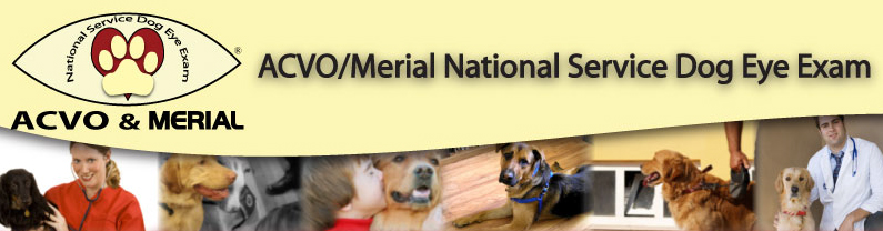 ACVO/Merial nation Service Dog Eye Exam