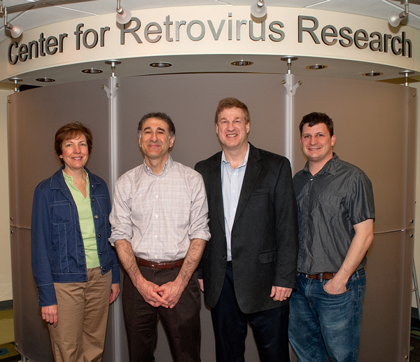 Dr. Emerman with Center for Retrovirus Research principle investigators (left to right) Drs. Boris-Lawrie, Emerman, Green, and Kwiek